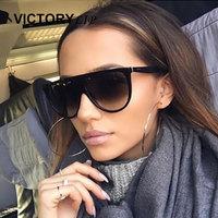 VictoryLip Clear Cat Eye Women Sunglasses Brand Designer CatEye Hot Sun Glasses Female Popular Fashion 2017