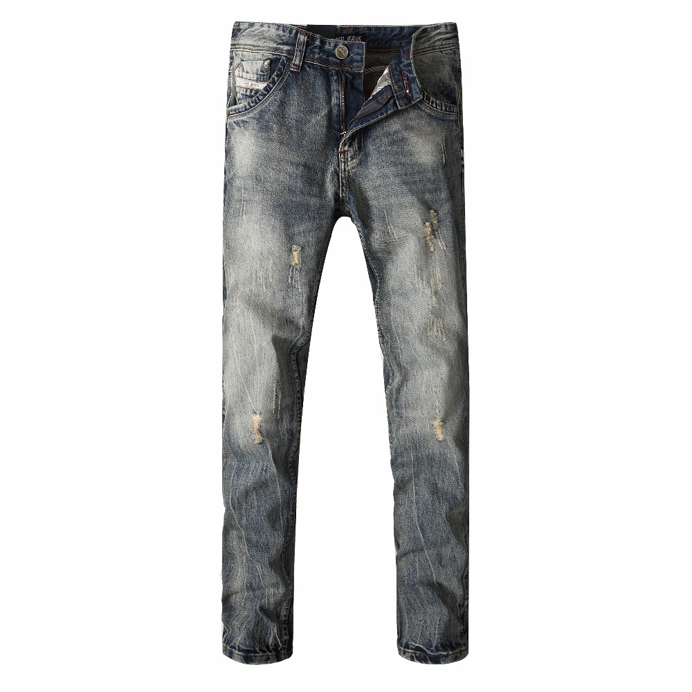 slim straight youth city fashion playing nail jeans washing autumn and winter models men trousers ripped jeans for men b136 DSEL brand Autumn and winter models men's jeans youth jeans men Slim straight loose men jeans large yards long trousers pants