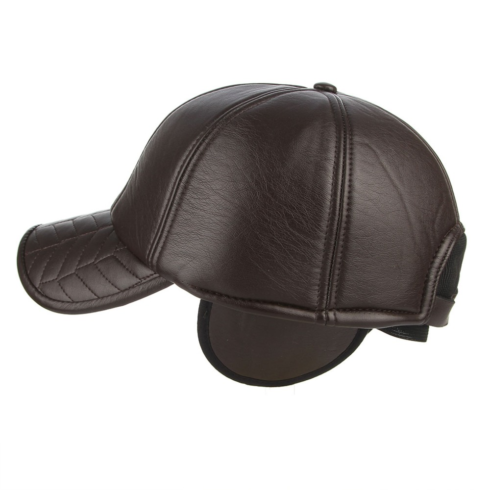 8fd59d6df6f Winter men baseball cap outdoor warm leather hat moto hat fashion jpg  1000x1000 Leather hat with