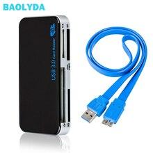 Baolyda sd 카드 리더 usb 3.0 otg/cf/멀티 카드 리더 sd/마이크로 sd/tf/cf/MS 컴팩트 플래시 스마트 메모리 카드 어댑터