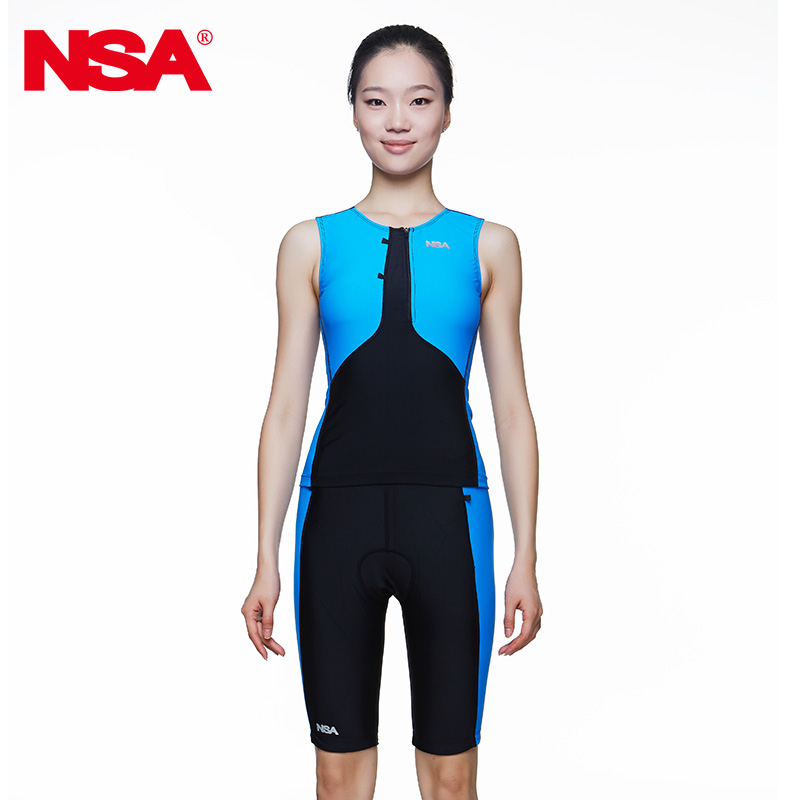 Nsa 2016 sleeveless split women's ride running swimwear suit tri suit running sports swimwear кабель titech tt nsa page 2