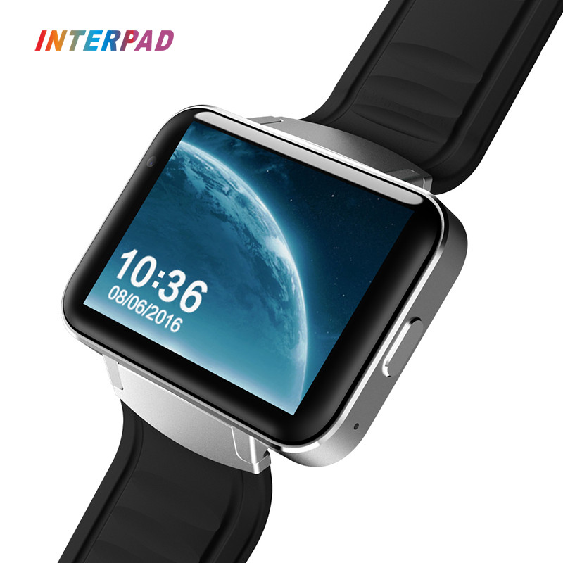 Interpad 2.2 Inch 900MAH Unique Smart Watch DM98 MTK6572 Android os 3G Phone Clock Smartwatch Support GPS WIFI For Android IOS 2016 update gv08 smart watch 15 inch 2mp