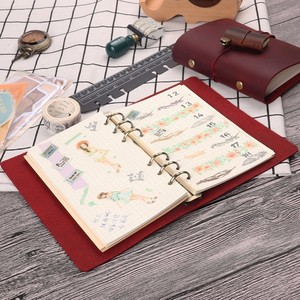 Image 5 - Hot Sale Classic Business Notebook A5 Personal A7 Genuine Leather Cover Loose Leaf Notebook Travel Journal Sketchbook Planner