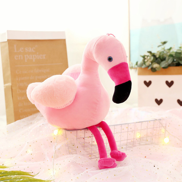 30cm Creative Simulation Pink Flamingo Plush Toys And Pillow Cute