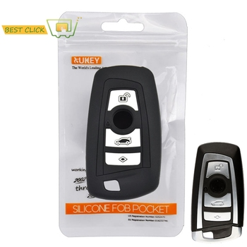 Silicone Car Key Case For BMW 1 2 3 5 7 Series F10 F20 F30 335 328 535 650 Cover Keyless Remote Fob Shell 4 Button Protector image