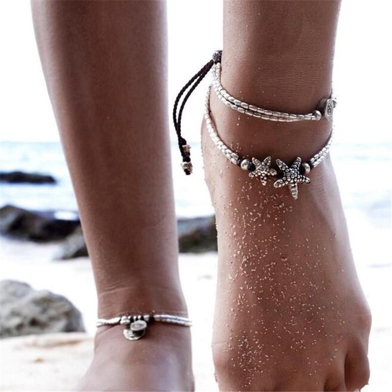 Huitan Ocean Theme Turtle Shell Women Anklets Fashion Beach Accessories Jewelry Foot Bracelet For Women Cute Gift For Sweetie