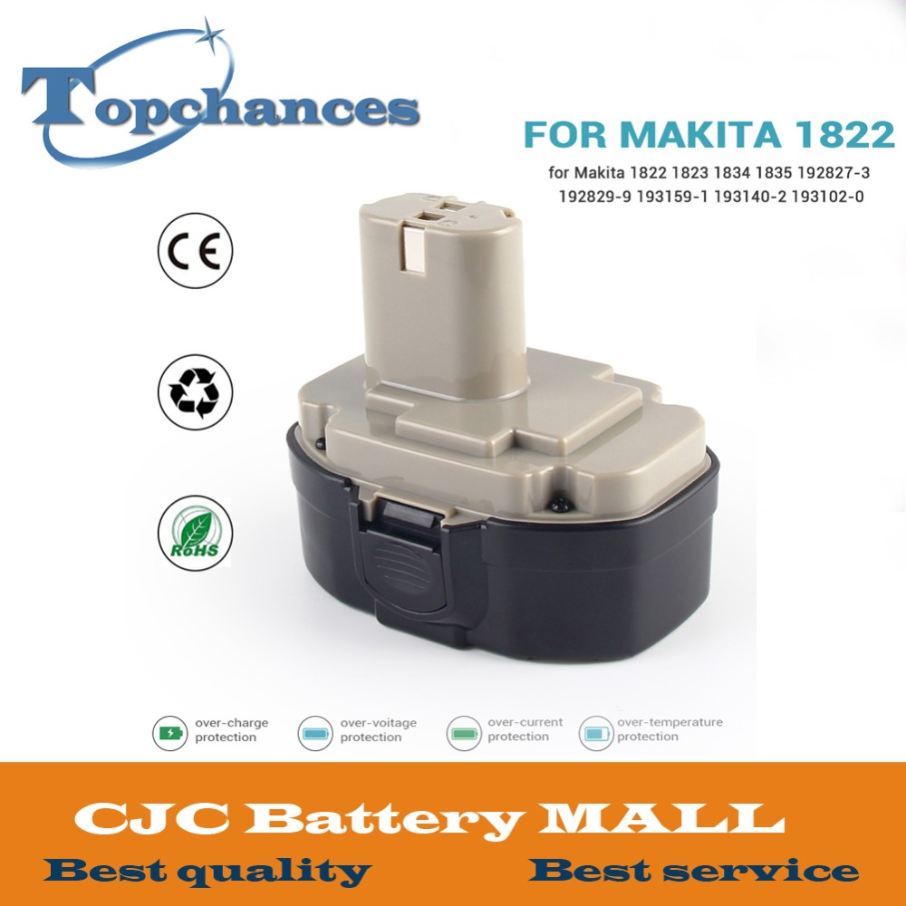 High Quality Newest 18V 3000mAh Ni-MH Replacement Battery For Makita 1822 1823 1834 1835 192827-3 192829-9 193159-1 193140-2 аккумулятор makita 18в 1 9ач nicd 1822 192827 3