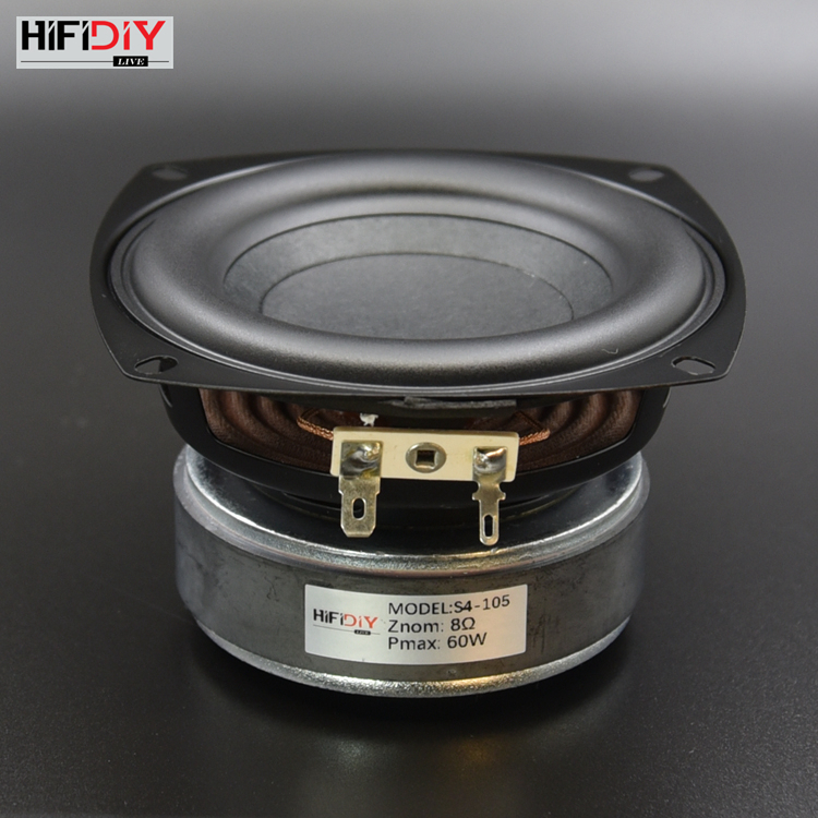 HI FI DIY AUDIO 4 inch 60W Woofer Speaker High Power Long Stroke BASS Home Theater For 2.1 Subwoofer unit Loudspeakers  S4 105 Speaker Accessories     - title=