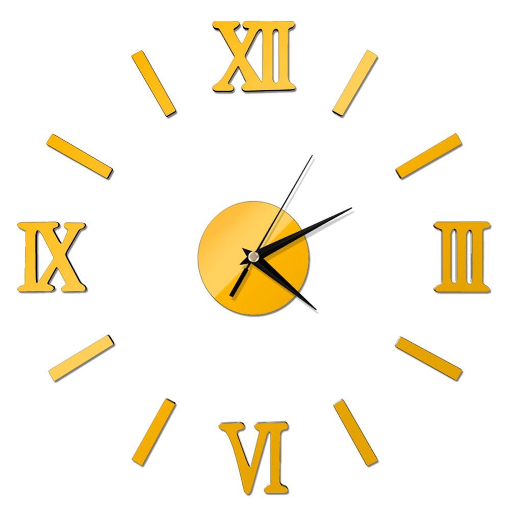 <font><b>New</b></font> DIY Home Decor Large Quartz <font><b>Wall</b></font> Clock Stickers <font><b>Living</b></font> <font><b>Room</b></font> <font><b>Office</b></font> <font><b>Bedroom</b></font> Decoration Roman Numerals Quartz Clocks