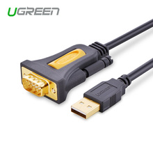 Ugreen высокое качество usb2.0 в rs232 com порт серийный pda 9 db9 контактный разъем кабель-адаптер для пк pda gps