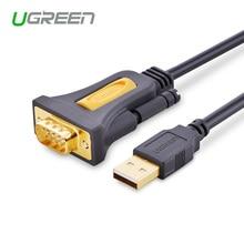 Ugreen عالية الجودة USB2.0 إلى RS232 كوم ميناء المسلسل المساعد الشخصي الرقمي 9 DB9 دبوس مهائي كابلات للكمبيوتر المساعد الشخصي الرقمي لتحديد المواقع
