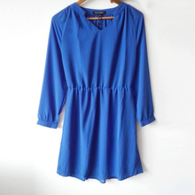 Long Sleeve Chiffon Dress