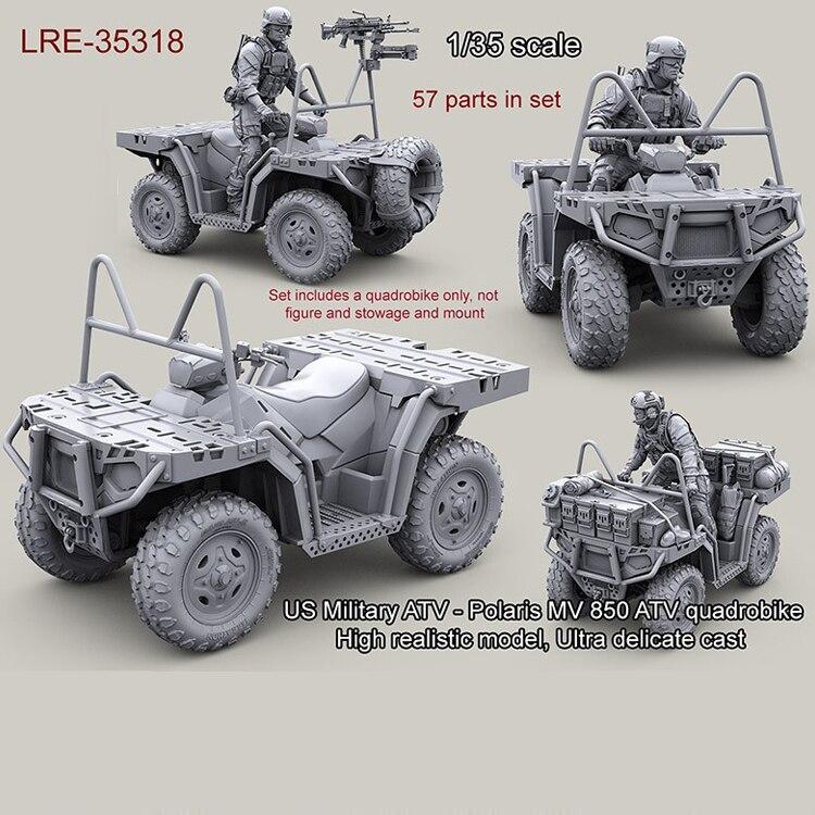 1/35 resina modelo kit EUA Militar ATV-MV 850 ATV Polaris quadrobike (apenas Do Carro) sem pintura e desmontado 311G Frete grátis