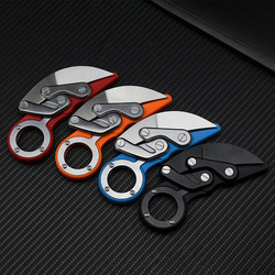 Mechanical folding knife Karambit CS GO claw knife survival ring knife pocket tactical tools mini EDC tool