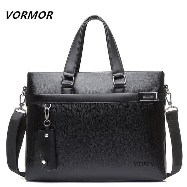 Vormor marca 2017 hombres bolso casual de negocios maletín pu bolsos del mensajero del ordenador portátil del bolso del bolso