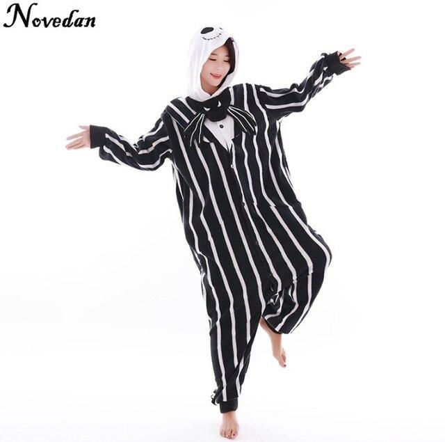 ebbf0fba19 New Nightmare Before Christmas Jack Skellington Scheletro Anime Pigiama  Pigiama Costumi Cosplay Adulti Onesies Costume di