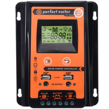 12V/24V 30A Solar Controllers Solar Panel Battery Regulator Dual USB LCD Display Charge Controller Solar Power
