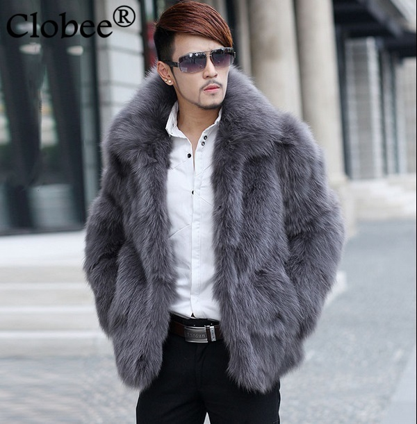 Jackets Artificial Fur Coat 2019 Winter Mens Faux Fur Coats Jackets Parka Windbreaker Two Ways Wear Plus Size Long Fur Overcoat S71