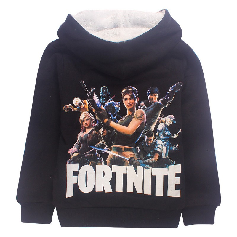 Children jackets Cartoon Fortnite winter&Fall 100% cotton T Shirt Kids warm Clothes hooded sweatshirts for Boy & Girls 2018 Game