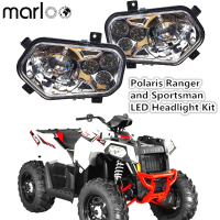 Marloo ATV UTV Light Accessories Projector Headlight Polaris Ranger / Sportsman LED Headlight Kit For Polaris Ranger Side X Side