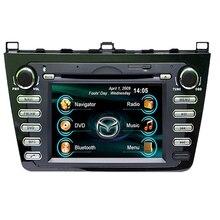 """Mapa libre! 7 """"2Din Coche DVD reproductor de audio para Mazda 6 2009-2011, con GPS, Video, USB, Bluetooth, Soporte de Control Del Volante Original"""