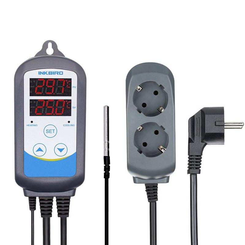 Inkbird 12 периодов таймер этап ITC-310T-B цифровой Отопление и охлаждение Предварительно проводной температура контроллер для домашнего пивоварен...