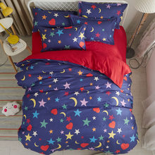 Soft Cotton Bedding Set Kids Bed Linens Sheet Quilt Comforter Pillow Case Single Twin Queen King Size Duvet Cover 24(China)