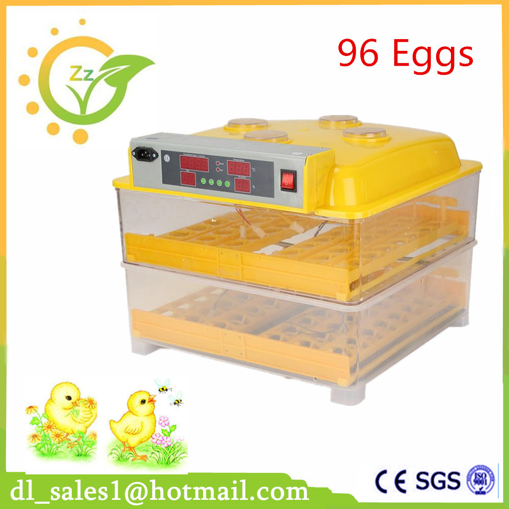 New Model Automatic Digital Poultry Quail Chicken Egg Incubator 96 Eggs Duck Egg Incubators Machine