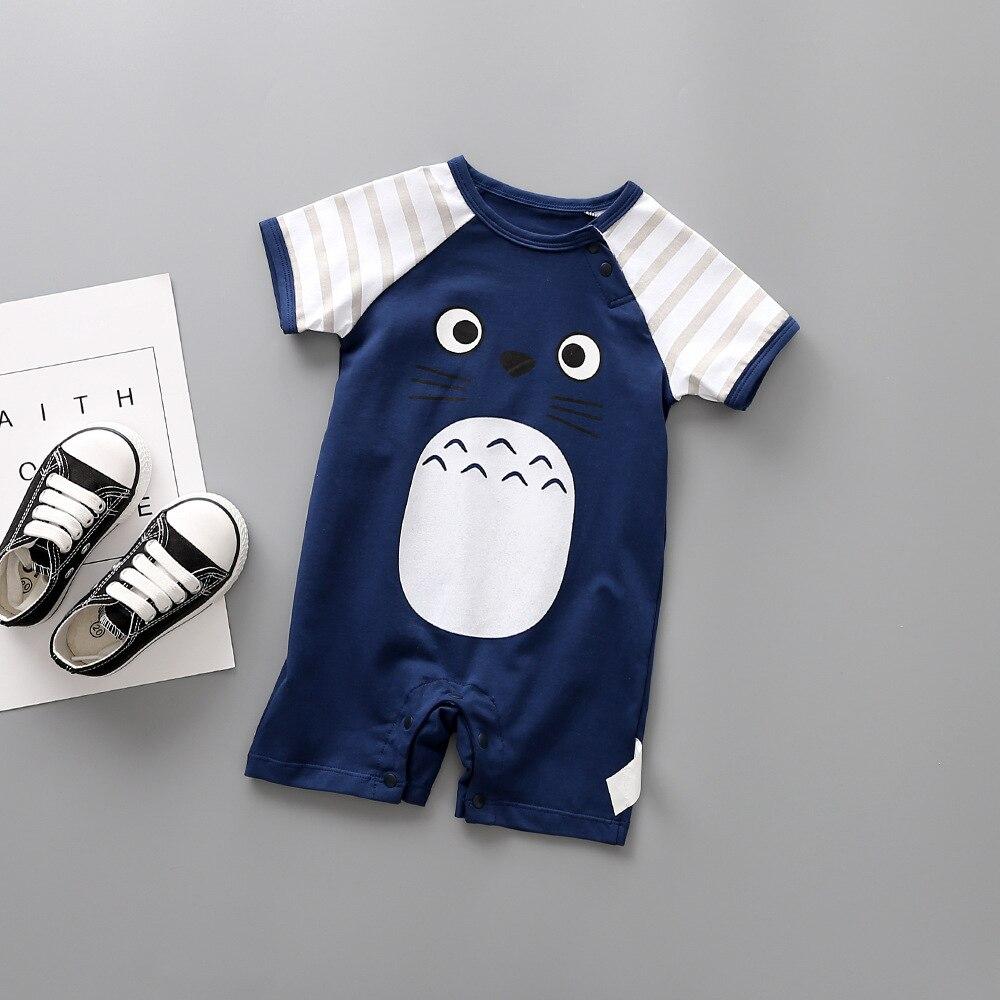 2018 Sommerstil Baby Jumpsuit 100% bomuld 5 farver Cute Cartoon Baby Girl Nyfødt Baby Pyjamas Jumping Baby kostume