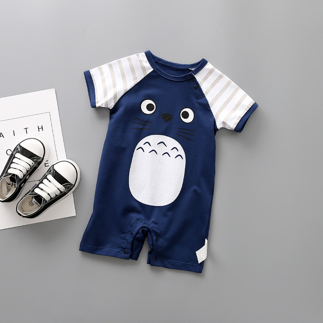 346a50f28874 2018 Summer Style Baby Jumpsuit 100% Cotton 5 Color Cute Cartoon Baby Girl Newborn  Baby Pajamas Jumping Baby Costume -in Rompers from Mother & Kids on ...