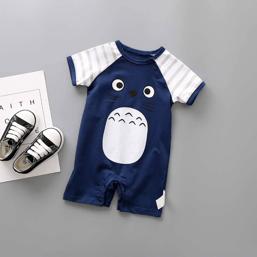 2018 Summer Style Baby Jumpsuit 100% Cotton 5 Color Cute Cartoon Baby Girl Newborn Baby Pajamas Jumping Baby Costume ...