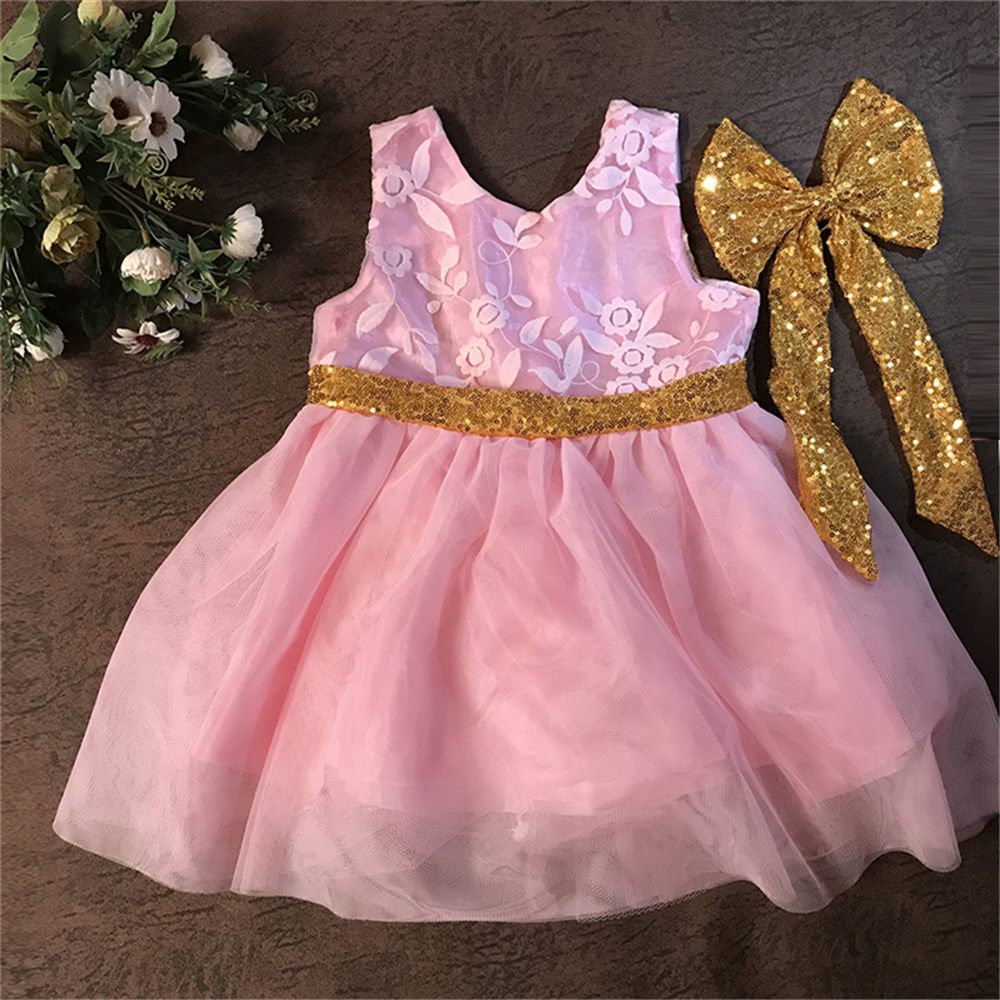Baby girl pink sequin dress - Toddler Party Dress Pink Sequin