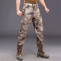 Unisex Autumn Winter Pants, Tactical Shark Skin Softshell Military Army Water repellent Thermal Camouflage Fleece Pants
