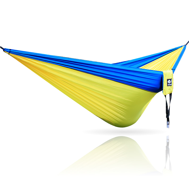 Blue Yellow Blue Hammock 300*200cm 210T Nylon Outdoor Furniture