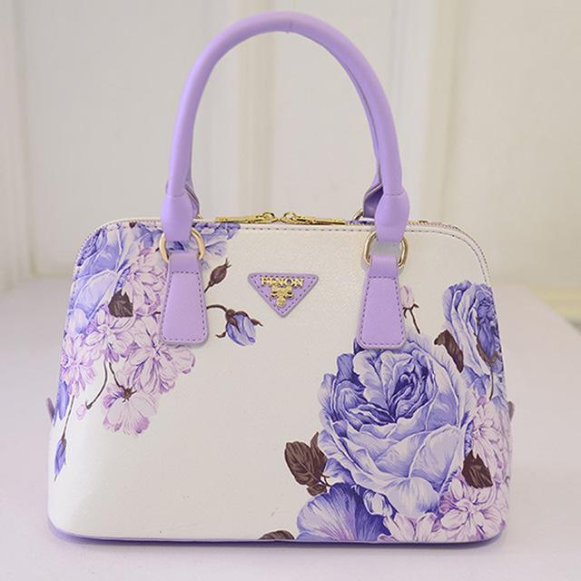 La marca de moda de Europa y América de gama alta bolsa de Mano femenina el proyecto de ley de hombro del embarque bolso de la señora flor de la Cáscara de diseño bolsa
