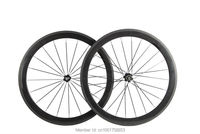 1pair New 700C 50mm clincher rim Road bicycle 3K UD 12K full carbon bike wheelsets aero spoke 20.5/ 23/ 25mm width Free shipping