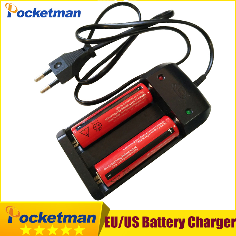 18650 3.7V Rechargeable Li-ion Battery + EU/US Plug AAA AA 18650 14500 10440 Universal Charger for Led Flashlight Torch Headlamp 2 10pcs pack 18500 3 7v rechargeable lithium ion battery icr li ion cell 1000mah flat top for led speaker led flashlight torch