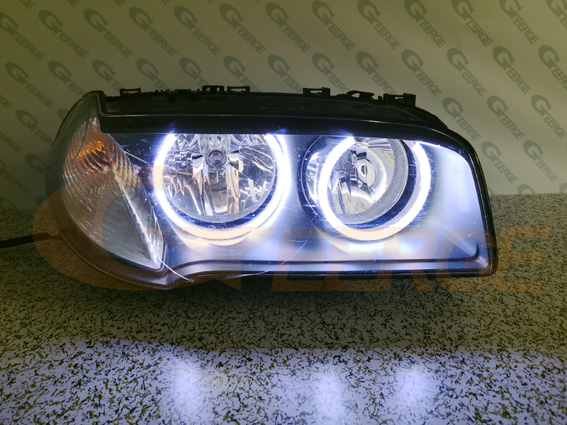 Image 5 - For BMW E83 X3 2007 2010 Halogen headlight Excellent Ultra bright illumination COB led angel eyes kit halo rings-in Car Light Assembly from Automobiles & Motorcycles