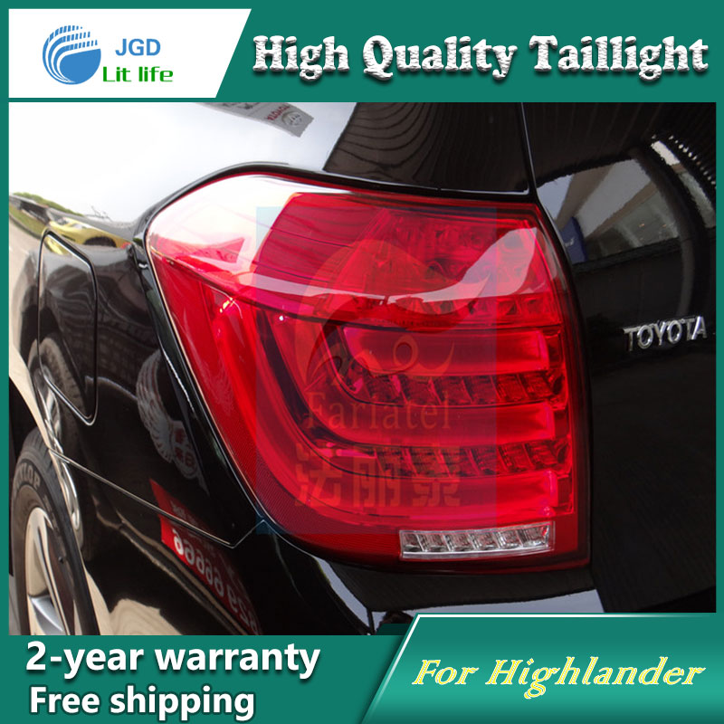 Car Styling Tail Lamp for Toyota Highlander 2012 Tail Lights LED Tail Light Rear Lamp LED DRL+Brake+Park+Signal Stop Lamp high quality car styling 35w led car tail light for toyota highlander 2015 tail lamp drl signal brake reverse lamp