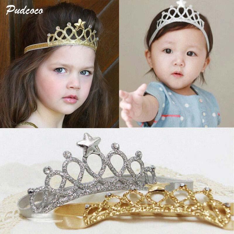 2019 Brand Hair Accessories Baby Girl Crown Hairband Toddler Headband Kid Tiara Birthday Princess Costume Headwear