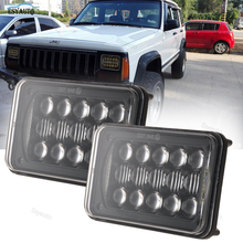 Car headlamp Single Work Light 60w 4×6 inch LED Headlights white DRL for Ford Probe Chevrolet car accessories black 2 pcs a set