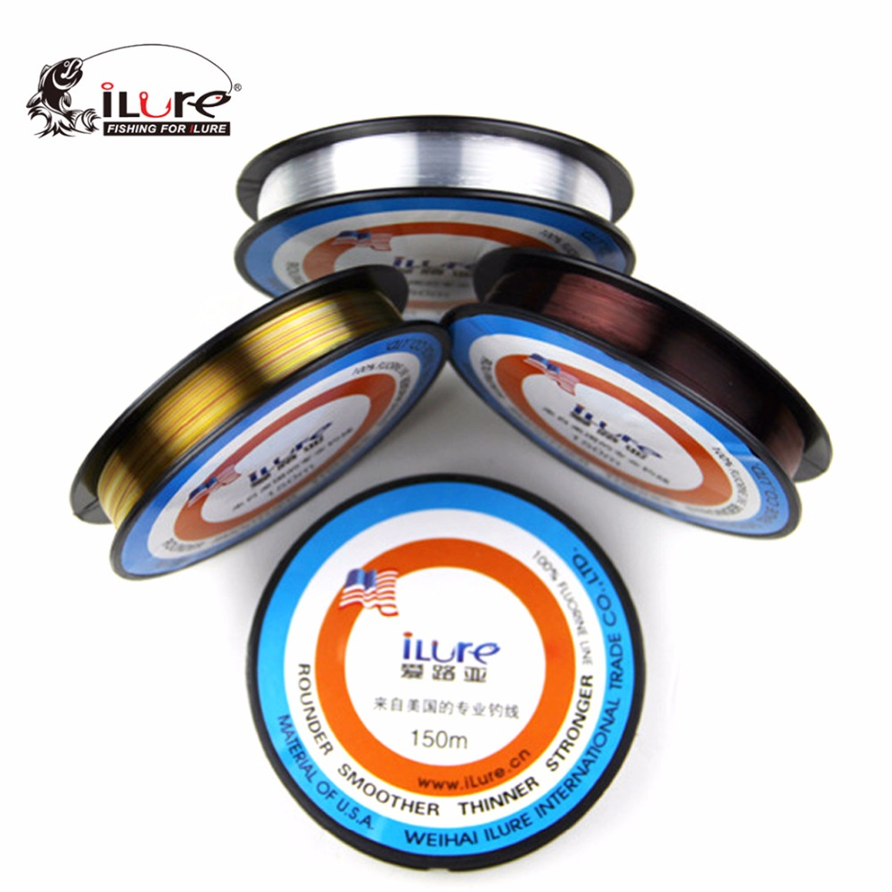 iLure Brand 150M plating Fluorocarbon Fishing Line 0.1-0.37mm 0.4 # -5.0 # Nylon Leader Line brand fly fishing line pesca