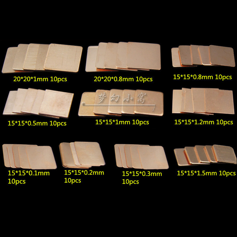 DIY Laptop CPU GPU 15*15mm 20*20mm Copper Slice heat sink Radiating Dissipate heat sheet transformers a fight with underbite activity book level 4
