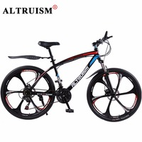 Altruism Q1 Speed Bicycles Road Mountain Bike 24 Speed 26 Inch Aluminum Double Disc Bicicleta Complete