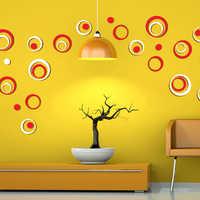 DIY etiquetas De círculos decoración interior estéreo extraíble 3D arte Pegatinas De Pared Pegatinas Muraux para Enfants