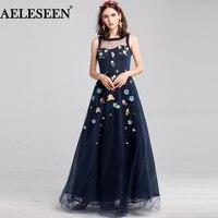 AELESEEN модные дизайнерские платье макси новинка 2018 года Высокое качество Женская без рукавов 3D аппликации вышитые Элегантный вечерние