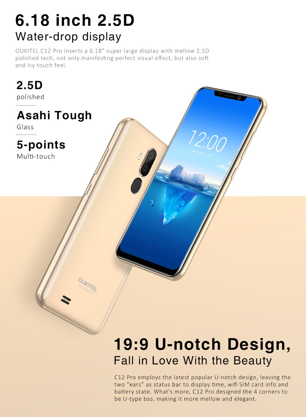 Details about 2019 C12 Pro 4G LTE or Oukitel C12 3G 2GB+16GB Smartphone  6 18