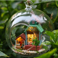 O Envio gratuito de Montagem DIY Kit Modelo de Casa De Boneca De Madeira Em Miniatura/Mini Brinquedo De Madeira Em Miniatura casa de boneca-Vento fantasia