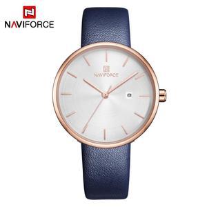 Image 2 - NAVIFORCE Frauen Uhr Mode Lässig Quarz Dame PU Armband Einfach Datum Wasserdichte Armbanduhr Geschenk für Mädchen/Frau/Frau 2019