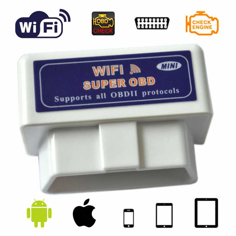New Super Wireless wifi OBD ELM327 V1.5 PIC18F25K80 Machin Dyagnostik Scanner Travo Smart Telefòn android / iOS ELM 327 Wi-Fi